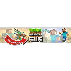 Faixa para Quarto Minecraft NOME PERSONALIZADO - VENDA POR METRO