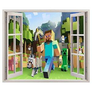 Adesivo Janela - Minecraft