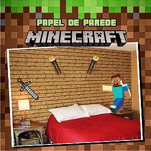 Kit Adesivo Minecraft - Tijolinhos + Tocha + Boneco + Espada