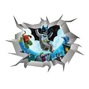 Adesivo Buraco 3D LEGO BATMAN