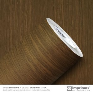 Adesivo Gold Madeira Imbuia MI 102 (Largura 1,22m) - VENDA POR METRO