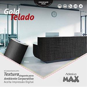 Adesivo Gold Telado Preto (Largura 1,22m)