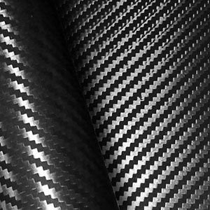 Adesivo Fibra de Carbono Preto - Rolo 50cm x 140cm