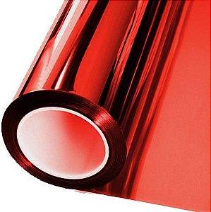 Adesivo Cromado Metálico Vermelho (Largura 1,06m) - VENDA POR METRO