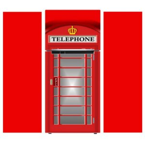 Adesivo de Geladeira Cabine Telefonica Londres - KIT COMPLETO