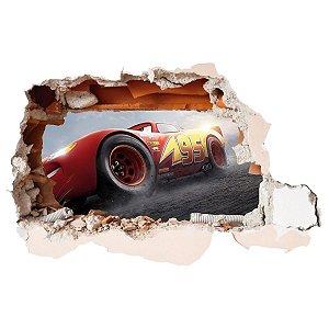 Adesivo Buraco 3D CARROS - McQueen