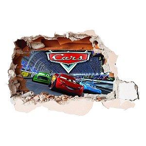 Adesivo Buraco 3D CARROS - McQueen Corrida