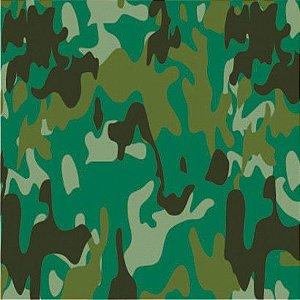 Adesivo Camuflado Verde (Largura 1m) - VENDA POR METRO