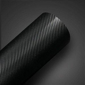 Adesivo Fibra de Carbono Preto 4D (Largura 1,40m) - VENDA POR METRO