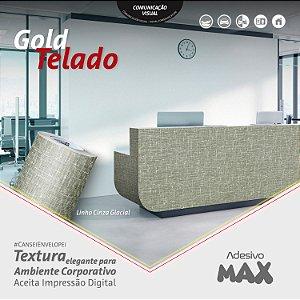 Adesivo Gold Telado Linho Cinza Glacial (Largura 1,22m) - VENDA POR METRO