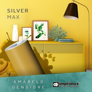 Adesivo MAX Silver Amarelo Gengibre (Largura 1,22m)