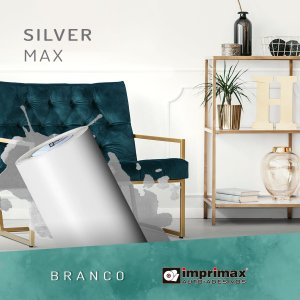 Adesivo Silver MAX Branco Fosco (Largura 1,22m) - VENDA POR METRO