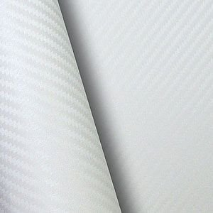 Adesivo Fibra de Carbono Branco (Largura 1 metro) - VENDA POR METRO