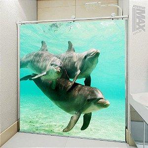 Adesivo Box - Golfinhos Brincando