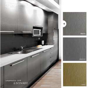 Adesivo Color Escovado Prata (Largura 1m) - VENDA POR METRO