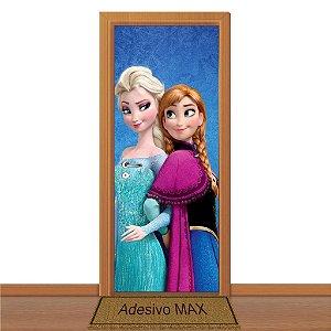 Adesivo de Porta - Frozen Anna & Elsa