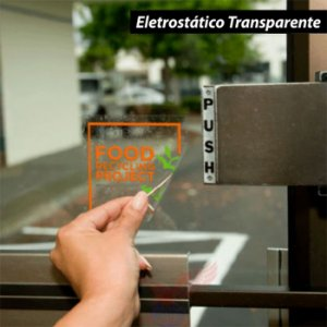 Adesivo Eletrostático Transparente (Rolo 5m x 1m)