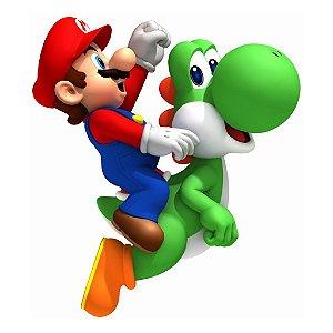 Adesivo Recortado - Super Mario Bros e Yoshi