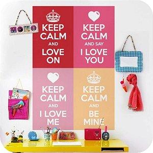 Adesivo de Parede Coleção Keep Calm Love