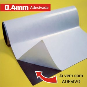 Manta Magnética 0,4 Adesivada (Largura 62cm)