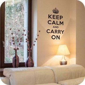 Adesivo de Parede Keep Calm and Carry On