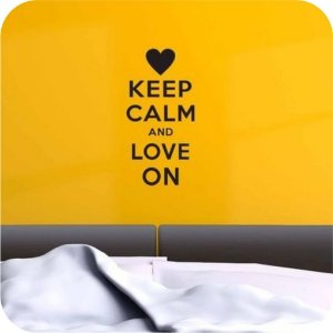 Adesivo de Parede Keep Calm and Love On