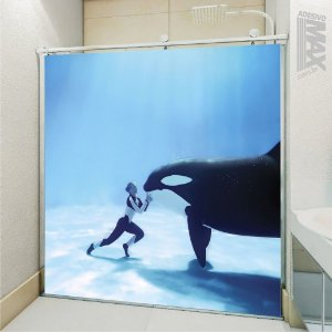Adesivo Box - Baleia Orca Beijo