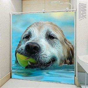 Adesivo Box - Cachorro Nadador