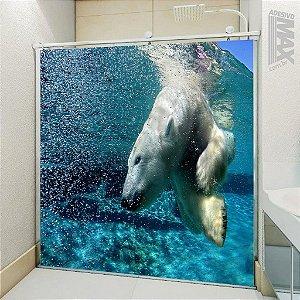 Adesivo Box - Urso Polar Mergulho