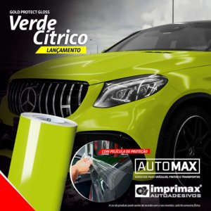 Adesivo Gold Protect Gloss Verde Cítrico (Rolo 5m x 1,40m)