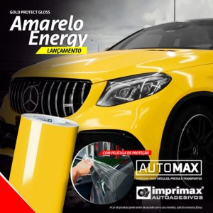 Adesivo Gold Protect Gloss Amarelo Energy (Rolo 5m x 1,40m)