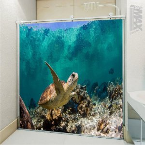 Adesivo Box - Tartaruga Fundo do Mar