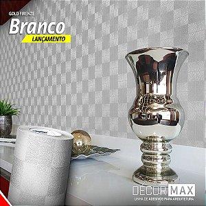 Adesivo Gold Firenze - Branco (Largura 1,22m) - VENDA POR METRO