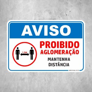 Proibido Aglomeração COVID 19