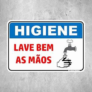 Higiene Lave bem as Mãos COVID 19