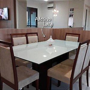 Adesivo Branco Efeito Laca para Mesa e Vidro (Largura 1m) - VENDA POR METRO