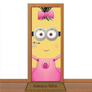 Adesivo de Porta - Minions Rosa