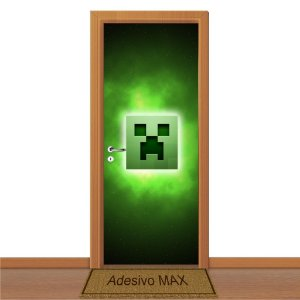 Adesivo de Porta - Minecraft Creeper