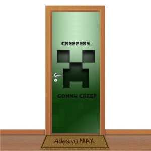Adesivo de Porta - Minecraft Gonna Creeper