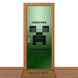 Adesivo de Porta - Minecraft Gonna Creeper