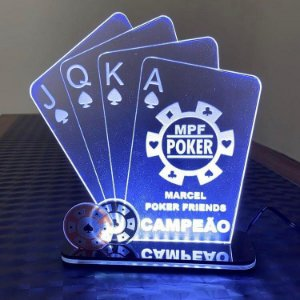 Troféu Led Ilumination - Poker Truco