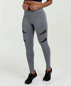 Calça  Legging Fitness Tule - Cinza