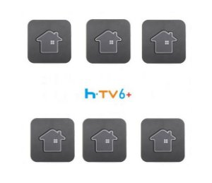 Kit de 6 Receptores Htv 6 Plus Ultra HD 16GB