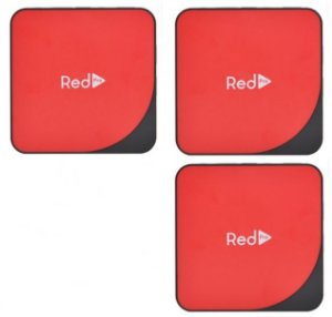 Kit de 3 Receptores Red Pro Ultra HD 4K 16GB