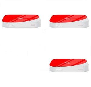 Kit de 3 Receptores Red Lite Ultra HD 8GB