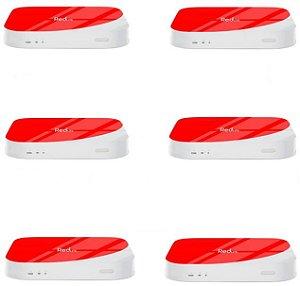 Kit de 6 Receptores Red Lite Ultra HD 8GB