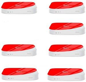 Kit de 7 Receptores Red Lite Ultra HD 8GB