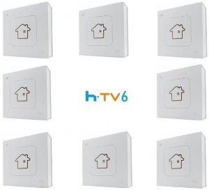 Kit de 8 Receptores Htv 6 Lite Ultra HD 8GB
