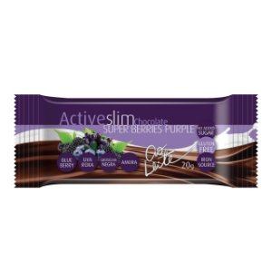 CH BAR ACTIVESLIM SUPER BERRIES PURPLE AO LEITE