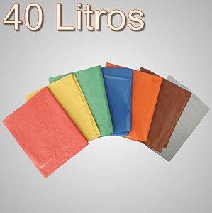 Saco de lixo 40 Litros Colorido